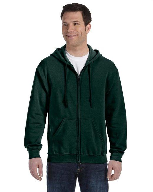 Gildan Adult Heavy Blend Adult 8 oz., 50/50 Full-Zip Hood - Forest Green