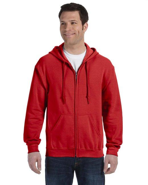 Gildan Adult Heavy Blend Adult 8 oz., 50/50 Full-Zip Hood - Red