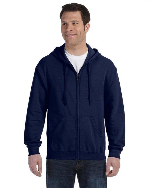 Gildan Adult Heavy Blend Adult 8 oz., 50/50 Full-Zip Hood - Navy