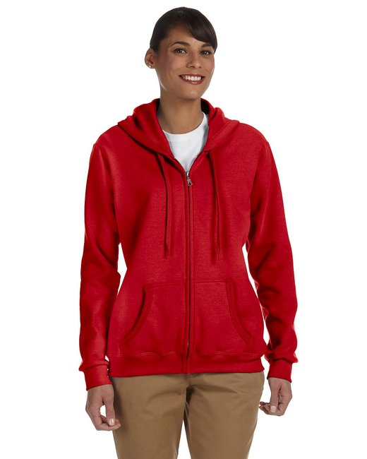 Gildan Ladies' Heavy Blend Ladies' 8 oz., 50/50 Full-Zip Hood - Red