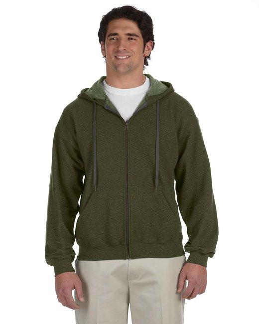 Gildan Adult Heavy Blend Adult 8 oz. Vintage Full-Zip Hood - Moss