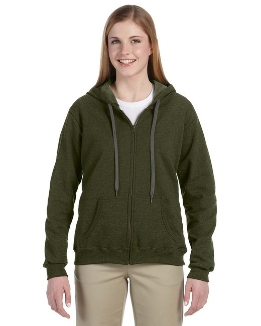 Gildan Heavy Blend Ladies' 8 oz. Vintage Classic Full-Zip Hood - Moss