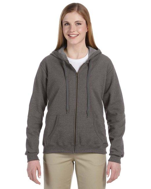 Gildan Heavy Blend Ladies' 8 oz. Vintage Classic Full-Zip Hood - Tweed
