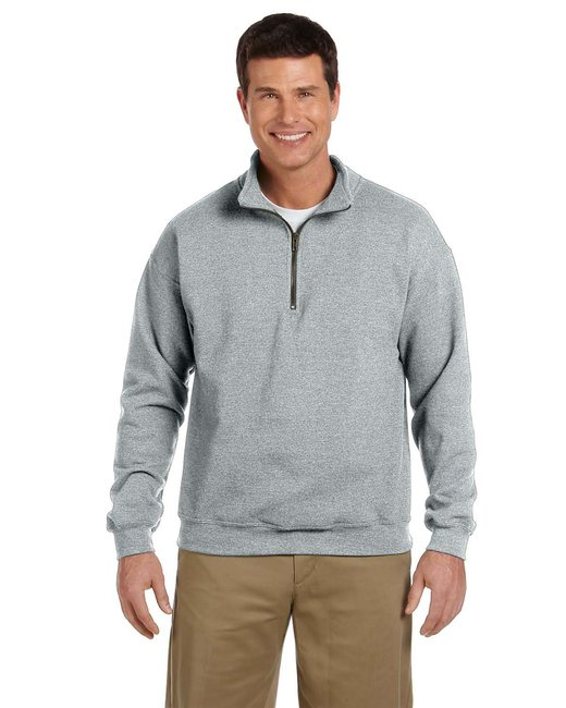 Gildan Adult Heavy Blend Adult 8 oz. Vintage Cadet Collar Sweatshirt - Sport Grey