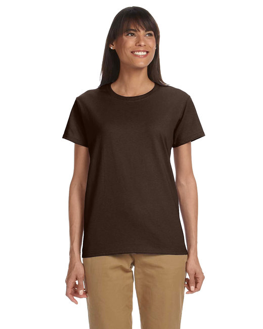 Gildan Ladies' Ultra Cotton 6 oz. T-Shirt - Dark Chocolate