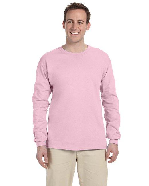 Gildan Adult Ultra Cotton 6 oz. Long-Sleeve T-Shirt - Light Pink