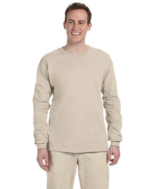 Gildan Adult Ultra Cotton 6 oz. Long-Sleeve T-Shirt - Sand