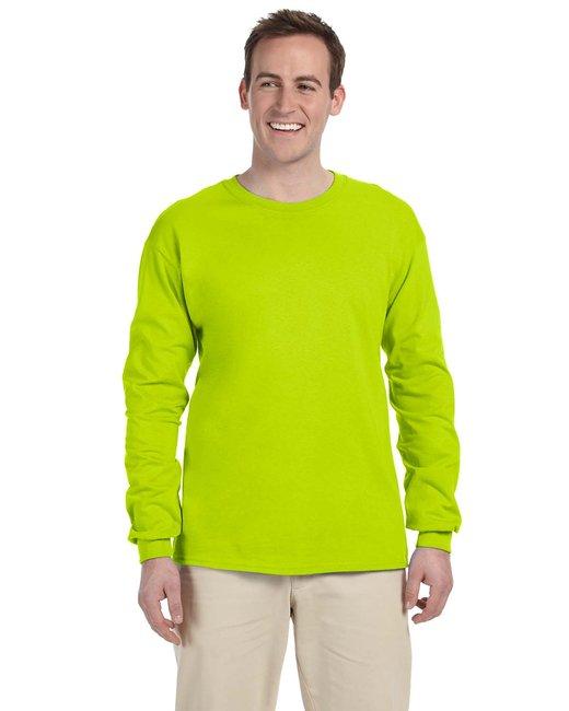 Gildan Adult Ultra Cotton 6 oz. Long-Sleeve T-Shirt - Safety Green