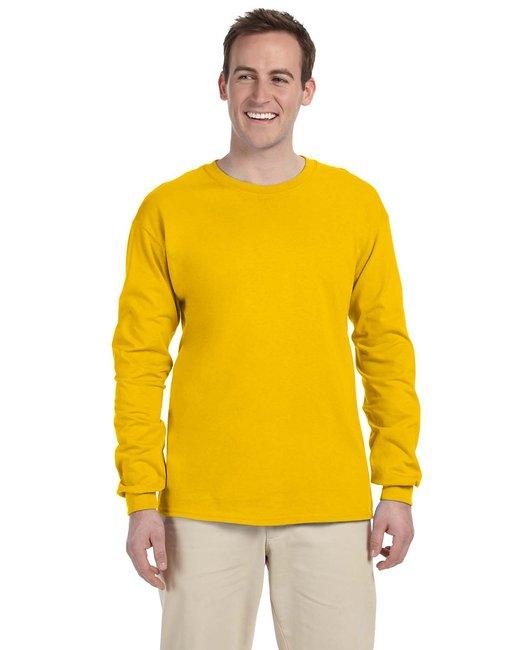 Gildan Adult Ultra Cotton 6 oz. Long-Sleeve T-Shirt - Gold