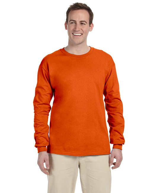 Gildan Adult Ultra Cotton 6 oz. Long-Sleeve T-Shirt - Orange