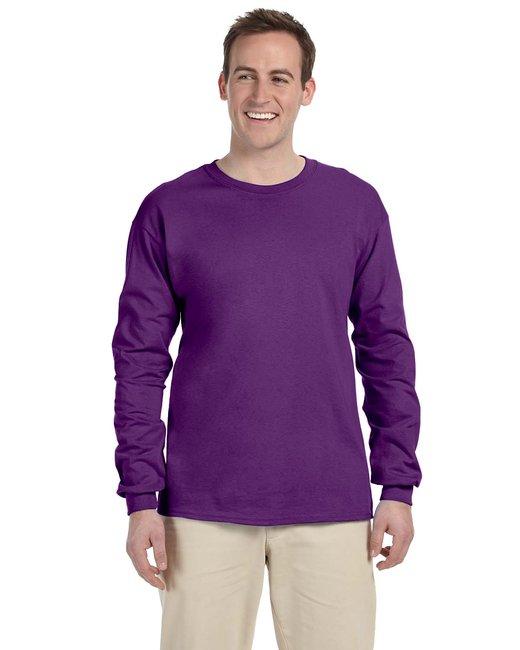 Gildan Adult Ultra Cotton 6 oz. Long-Sleeve T-Shirt - Purple