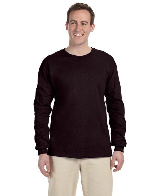 Gildan Adult Ultra Cotton 6 oz. Long-Sleeve T-Shirt - Dark Chocolate