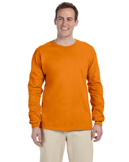 Gildan Adult Ultra Cotton 6 oz. Long-Sleeve T-Shirt - S Orange