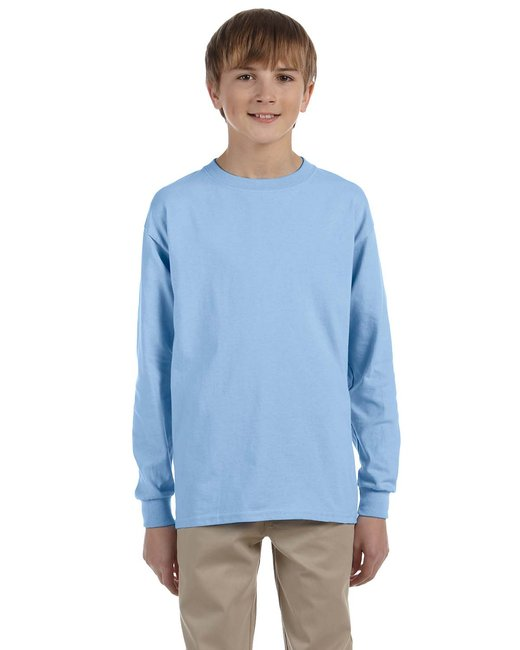 G240B Gildan Youth Ultra Cotton® 6 oz. Long-Sleeve T-Shirt