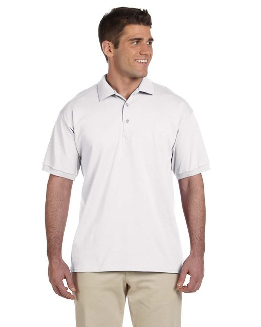 Gildan Adult Ultra Cotton Adult 6 oz. Jersey Polo - White