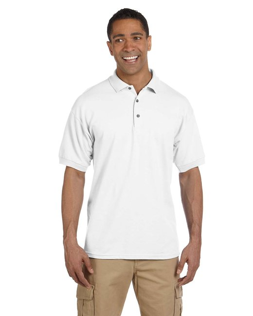 Gildan Adult Ultra Cotton Adult 6.3 oz. Piqu Polo - White