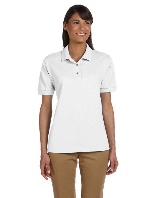Gildan Ladies'  Ultra Cotton Ladies' 6.3 oz. Piqu Polo - White