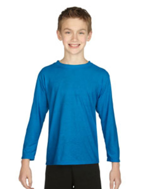 Gildan Youth Performance Youth 5oz. Long-Sleeve T-Shirt - Sapphire