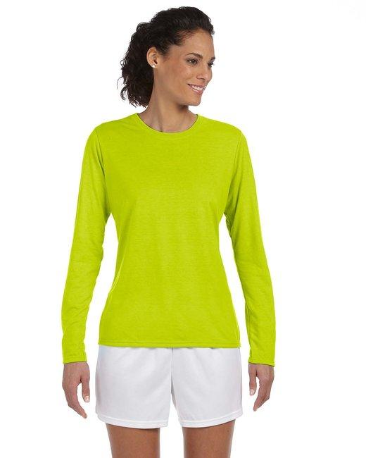 Gildan Ladies' Performance Ladies' 5 oz. Long-Sleeve T-Shirt - Safety Green