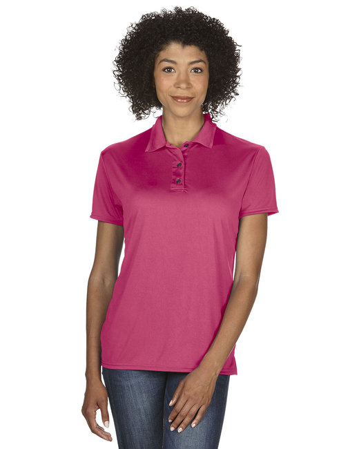 Gildan Ladies' Performance® 4.7 oz. Jersey Polo - Marble Heliconia