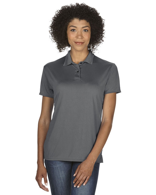 Gildan Ladies' Performance® 4.7 oz. Jersey Polo - Marble Charcoal