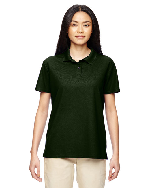 Gildan Ladies' Performance® 4.7 oz. Jersey Polo - Marbl Forest Grn