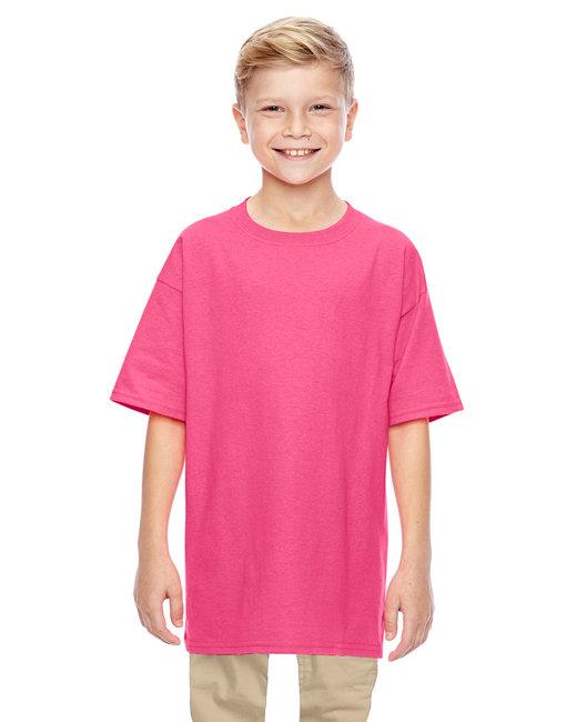 Gildan Youth  Heavy Cotton 5.3oz. T-Shirt - Safety Pink
