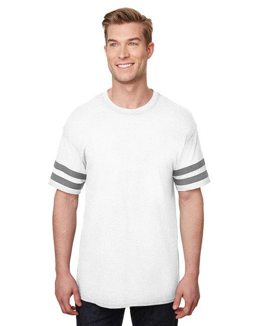 Gildan Heavy Cotton Adult Victory T-Shirt - White/ Grp Hthr