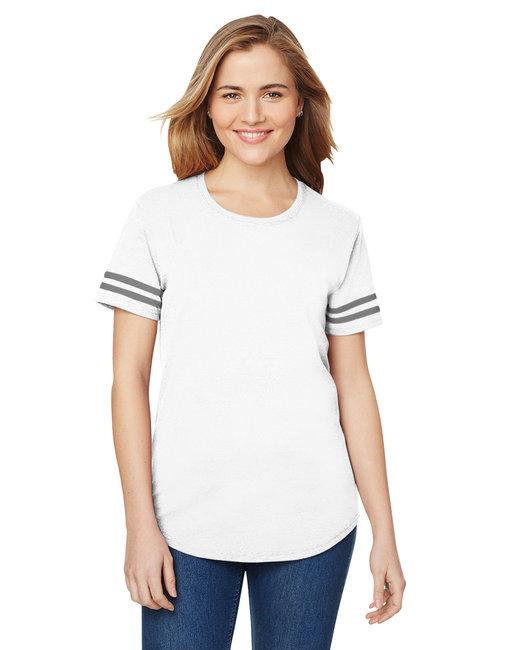 Gildan Heavy Cotton Ladies' Victory T-Shirt - White/ Grp Hthr