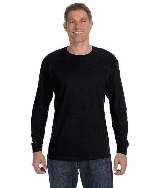 Gildan Adult  Heavy Cotton 5.3 oz. Long-Sleeve T-Shirt - Black