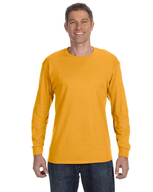 Gildan Adult  Heavy Cotton 5.3 oz. Long-Sleeve T-Shirt - Gold