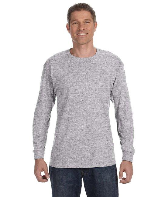 Gildan Adult  Heavy Cotton 5.3 oz. Long-Sleeve T-Shirt - Sport Grey