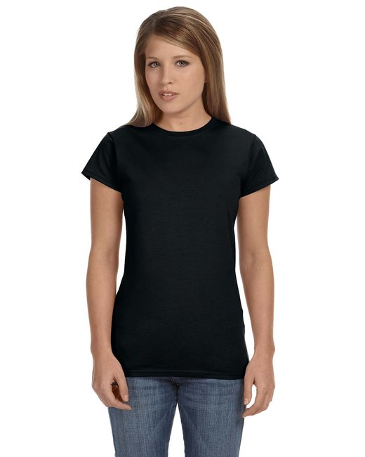 Gildan Ladies' Softstyle 4.5 oz. Fitted T-Shirt - Black