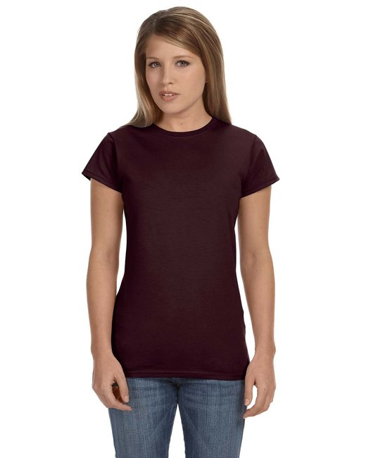 Gildan Ladies' Softstyle 4.5 oz. Fitted T-Shirt - Dark Chocolate