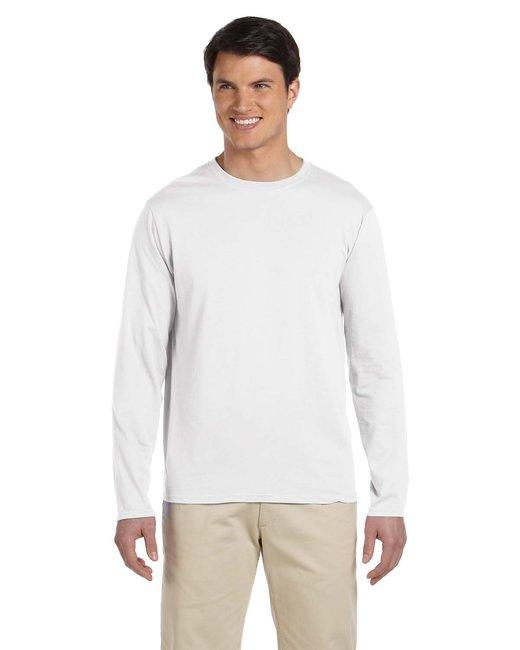 Gildan Adult Softstyle  4.5 oz. Long-Sleeve T-Shirt - White