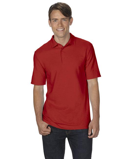 Gildan Adult 6 oz. Double Piqu Polo - Red