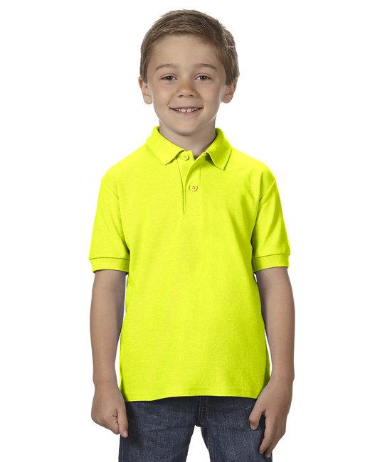 Gildan Youth 6 oz. Double Piqu Polo - Safety Green
