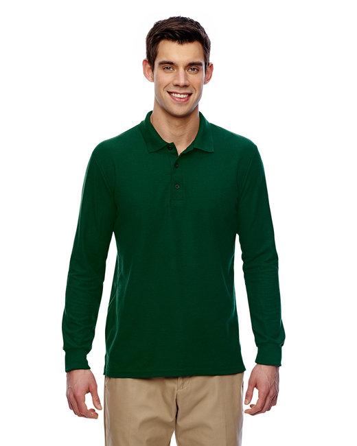 Gildan Adult 6 oz. Double Piqu Long-Sleeve Polo - Forest Green