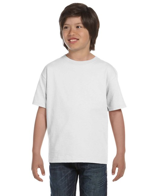 Gildan Youth 5.5 oz., 50/50 T-Shirt - White