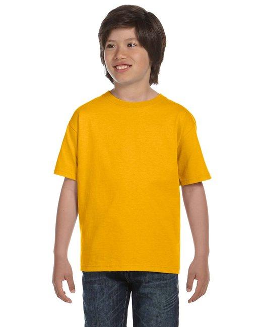 Gildan Youth 5.5 oz., 50/50 T-Shirt - Gold