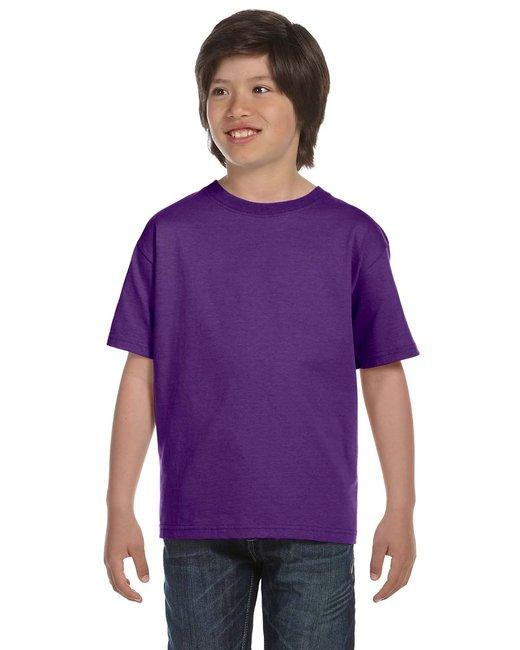 Gildan Youth 5.5 oz., 50/50 T-Shirt - Purple