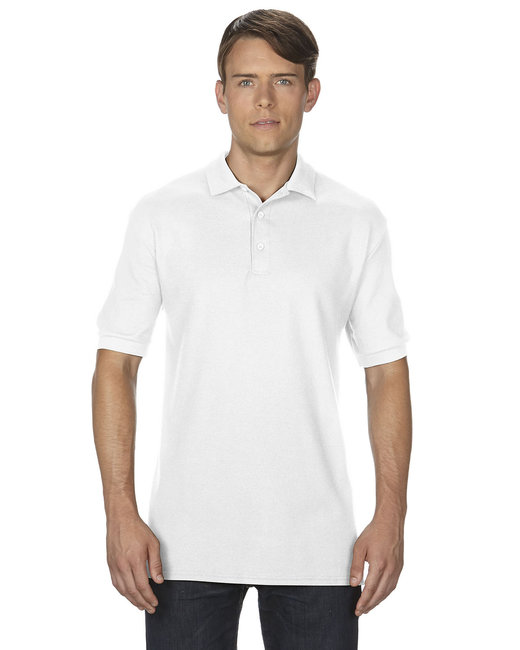 Gildan Adult Premium Cotton Adult 6.6oz. Double Piqu Polo - White