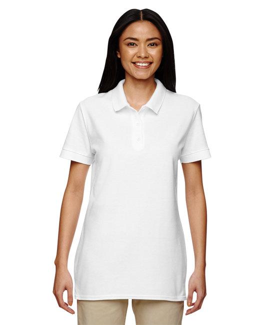 Gildan Ladies'  Premium Cotton Ladies' 6.6oz. Double Piqu Polo - White