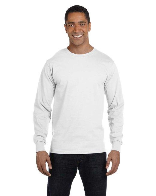 Gildan Adult 5.5 oz., 50/50 Long-Sleeve T-Shirt - White