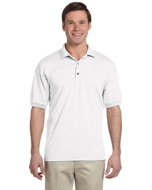 Gildan Adult 6 oz. 50/50 Jersey Polo - White