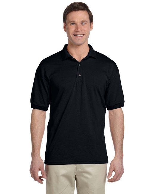 Gildan Adult 6 oz. 50/50 Jersey Polo - Black