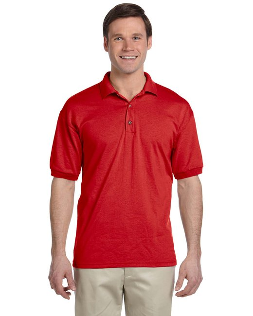 Gildan Adult 6 oz. 50/50 Jersey Polo - Red