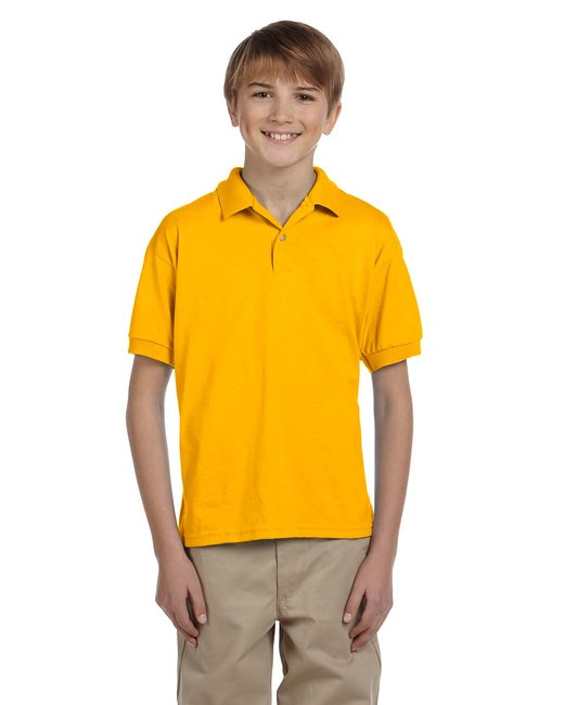 Gildan Youth 6 oz., 50/50 Jersey Polo - Gold