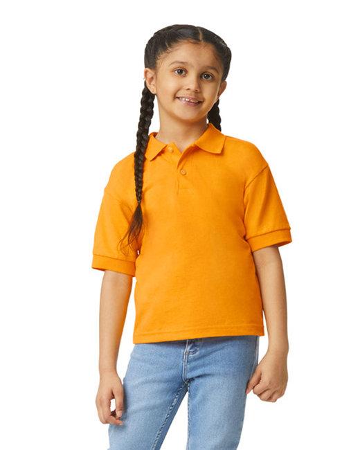 Gildan Youth 6 oz., 50/50 Jersey Polo - Gold