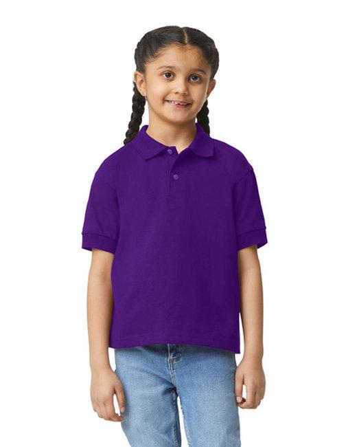 Gildan Youth 6 oz., 50/50 Jersey Polo - Purple